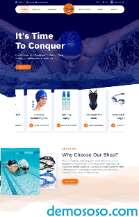 mb002 游泳用品商店HTML5网站模板