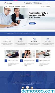 mb001 银行金融服务网站HTML模板 210309136870